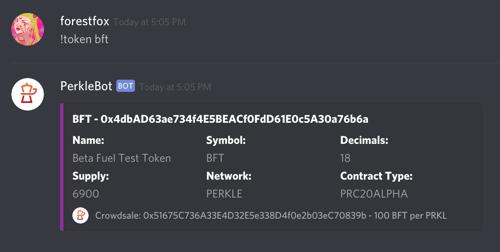 PerkleBot token stats