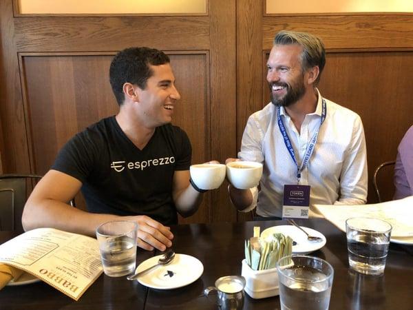 GoChain and Esprezzo CEOs